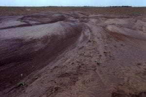 Soil Erosion in an Agricultural Field